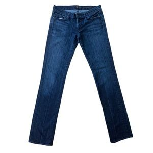 7 For All Mankind Straight Dark Wash Jeans SZ 28